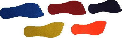 Floor Markers - Foot Shaped